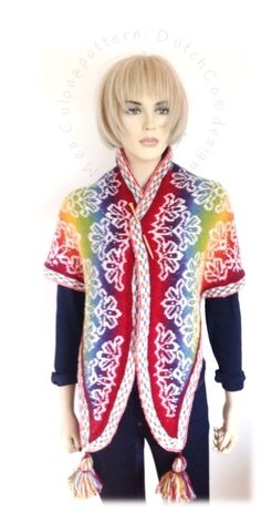 Exclusief bij ons verkrijgbaar: patroon Mea Culpa in NL  een kleine variant fair isle shawl  hier in Kauni EQ en AA http://www.ravelry.com/patterns/library/mea-culpa
