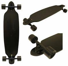 MAPLE DROP THROUGH Complete Skateboard LONGBOARD THRU Black 36 in
