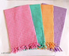 Hand & Face Towels Beautiful Cotton Bath  Towels (pack of 4) Fabric: Cotton Size (L X B): 30 in X 60 in Description: It Has 4 Piece Of Bath Towel Work : Checkered Sizes Available: Free Size *Proof of Safe Delivery! Click to know on Safety Standards of Delivery Partners- https://ltl.sh/y_nZrAV3  Catalog Rating: ★4.2 (701)  Catalog Name: Elegant Beauitiful Cotton Bath Towels Vol 11 CatalogID_266422 C71-SC1113 Code: 894-2014968-