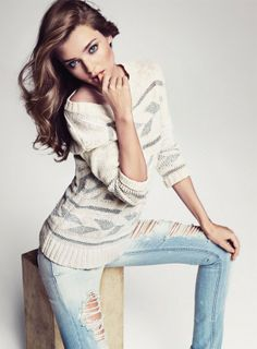 Miranda Kerr for Mango  Love the simplicity of this outfit !
