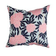 Navy Fleur Chinoise Pillow
