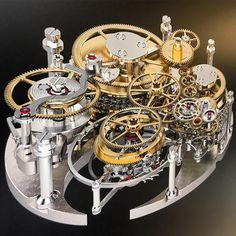 Complication of movement Ferdinand Berthoud 1753 Tourbillon Fusee&chain Constant Force chronometer