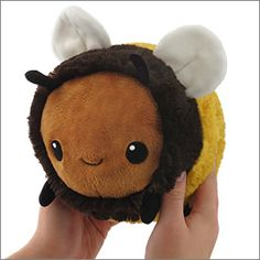 Mini Squishable Fuzzy Bumblebee: An Adorable Fuzzy Plush to Snurfle and Squeeze! Plush Pattern, Cute Stuffed Animals, Cute Pillows, Cute Plush, Cute Toys, My New Room, Sewing Projects, Creations, Teddy Bear