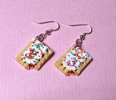 Poptart Earrings  Kawaii Dangle Earrings   Cute by kawaiidesune, $22.00