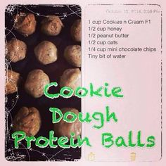 Cookie Dough Protein Balls - Dutch Chocolate would be great too.