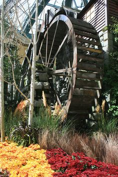 Water wheel at the Conservatory, Bellagio Hotel