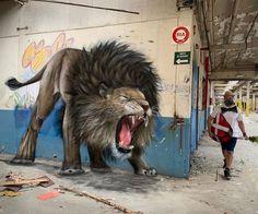 Urban Street Art, Best Street Art, 3d Street Art, Street Art Graffiti, Street Artists, Street Art Utopia, Murals Street Art, Mural Art, Wall Art
