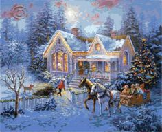 Welcome Home - Christmas cross stitch   Yiotas XStitch