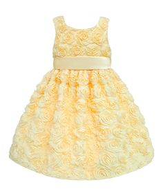 Yellow Rosette Dress - Infant & Toddler