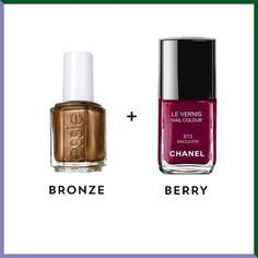 Essie Leggy Legend + Chanel Le Vernis Nail Color in Singulière: Rich and warm, this colour combo will have you dreaming of sugar-coated cranberries and fall foliage.