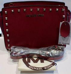 Michael Kors Cross Body Wine Color - $176