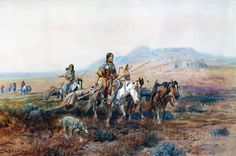 When the Trail Was Long Between Camps by Charles Marion Russell