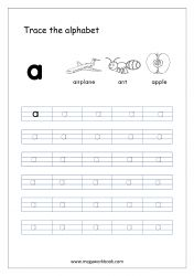 Alphabet Tracing Worksheet - Alphabet Tracing Sheets - Small Letter a Cursive Writing Worksheets, Alphabet Tracing Worksheets, Tracing Letters, Alphabet Worksheets, Kindergarten Worksheets, Small Alphabet Letters, Alphabet Writing Practice, Alphabet Book, Prewriting Skills