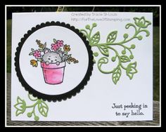 """Pretty Kitty   This Friday I am holding a """"Pretty Kitty"""" card class. This is such an adorable stamp set!  We will be making 3 cards (stamp..."""