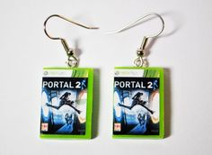 Xbox 360 Game Cases, CHOOSE any two games - EARRINGS -. $16.00, via Etsy.