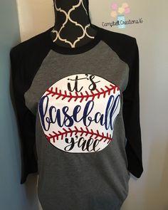 Its baseball yall t shirt - baseball shirt - baseball raglan t shirt - baseball shirt - it's baseball y'all shirt Baseball T Shirts, Baseball Crafts, Baseball Boys, Softball Mom, Sports Shirts, Baseball Girlfriend Shirts, Baseball Outfits, Baseball Boyfriend, Baseball Videos