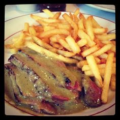 The best steak ever @Le Relais de Venise also called L'entrecote.  I ate there all the time when I lived in Toulouse and was so excited when 1 opened at 50th and Lex (only one in the US!)