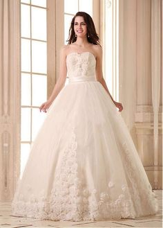 STUNNING SATIN TULLE BALL GOWN SWEETHEART NECKLINE NATURAL WAISTLINE WEDDING DRESS FORMAL PROM EVENING PARTY GOWN