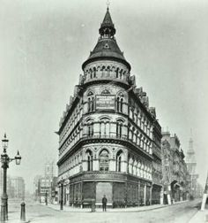 Corner of Poultry and Queen Victoria Street, 1880. Once occupied by Mappin & Webb