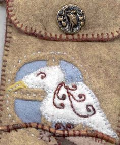 seagull amulet bag