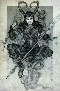 #loki #god #valhalla #norse #mythology