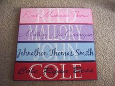 Great baby shower or birthday gifts for kids!! Just $25 you choose the wording and the colors..