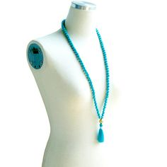 Tassel Necklace - Mint
