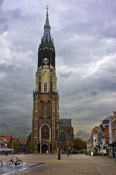 Delft the big church where all the members of the royal family are being buried.