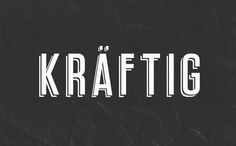 Kraftig Typeface (Free Font) by DESTRUKT STUDIO, via Behance