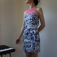 Lilly Pulitzer Terry Shift dress Brandnew, just tried on, I am getting on weight so the size went off, really like the zebra pattern! Lilly Pulitzer Dresses Mini