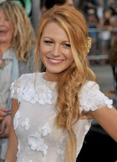 image of Blake Lively: The Low Messy Fishtail Braid