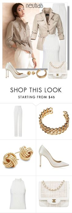 """""""Neutrals"""" by gallant81 ❤ liked on Polyvore featuring Amanda Wakeley, Saks Fifth Avenue, Jimmy Choo, Intermix and Chanel"""