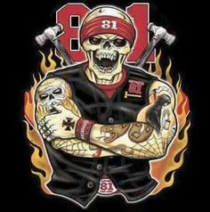 Biker Clubs, Motorcycle Clubs, Harley Davidson Art, Harley Davidson Motorcycles, Biker Back Patches, Outlaws Motorcycle Club, Grim Reaper Tattoo, Angels Logo, Skull Pictures