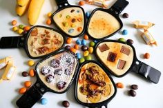 The recipe for the raclette dessert is ideal for a raclette evening. By … – The recipe for the raclette dessert is ideal for a raclette evening. Quick Dessert Recipes, Brunch Recipes, Snack Recipes, Snacks, Bread Recipes, Chicken Recipes, Healthy Recipes, Fondue Raclette, Raclette Recipes