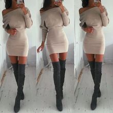 New Womens Winter Long Sleeve Jumper Sweater Dress Bodycon Short Slim Dress(China (Mainland))