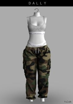 Dally low-rise pants at TSLOK • Sims 4 Updates