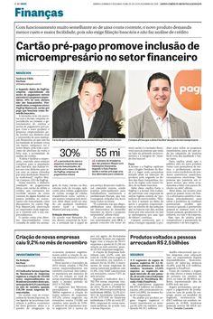 Título: Cartão pré-pago promove inclusão de microempresário no setor financeiro. Veículo: jornal DCI. Data: 20/12/2014. Cliente: Acesso.