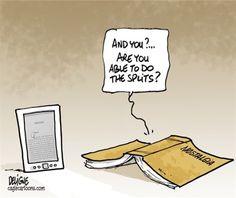 Book splits - cartoon by Frederick Deligne