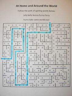 Type in your spelling words and it will create a maze worksheet. Change up homework?