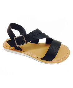 These simple sandals sport adjustable buckles for a comfortable fit and traction soles that cushion and stabilize little feet. Simple Sandals, Kids Sandals, Black Sandals, Toddler Boys, Tiramisu, Little Ones, Toddlers, Bamboo, Children