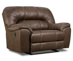 Double Recliner Gray Austere Oversized Recliner View 2