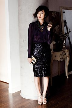 I am obsessed with this sequin skirt from Zara.