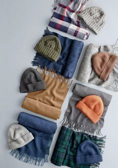 Since you'll be wearing them a lot... Pick up a J.Crew hat and scarf made from our incredibly soft cashmere. They'll keep you stylish and warm during the worst of winter.