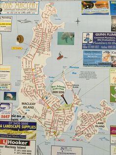Map of Macleay Island Beautiful Sunrise, Bird Watching, Kayaking, Tourism, Mosaic, Island, Map, Sunset, Beach