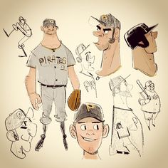 by Hyun Song We, character desginer — #baseball #mlb #design #drawing #doodle #sketch #illust #illustration #characterdesign #cartoon #그림 #낙서 #야구 #스케치