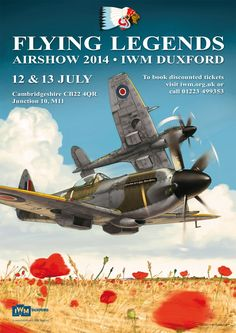 Duxford Flying Legends 2014 airshow poster by Romain Hugault