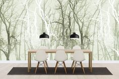Wander Trees Green - Wall Mural & Photo Wallpaper - Photowall