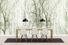 Wander Trees Green - Wall Mural & Photo Wallpaper - Photowall