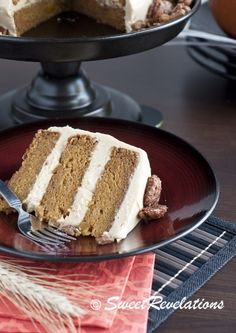 brown butter pumpkin cake with brown sugar cream cheese frosting