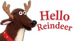 Hello, Reindeer | Children's Christmas Song. A great way to start holiday lessons, parties, and pageants. Hello, reindeer. Hello, snowman. Hello, Santa. Happy holidays!  #preschool #kindergarten #ESL
